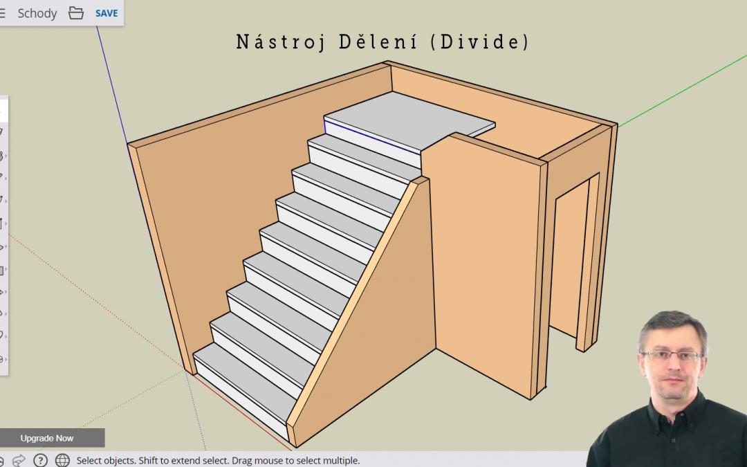 SketchUp – tip – nástroj dělení DIVIDE